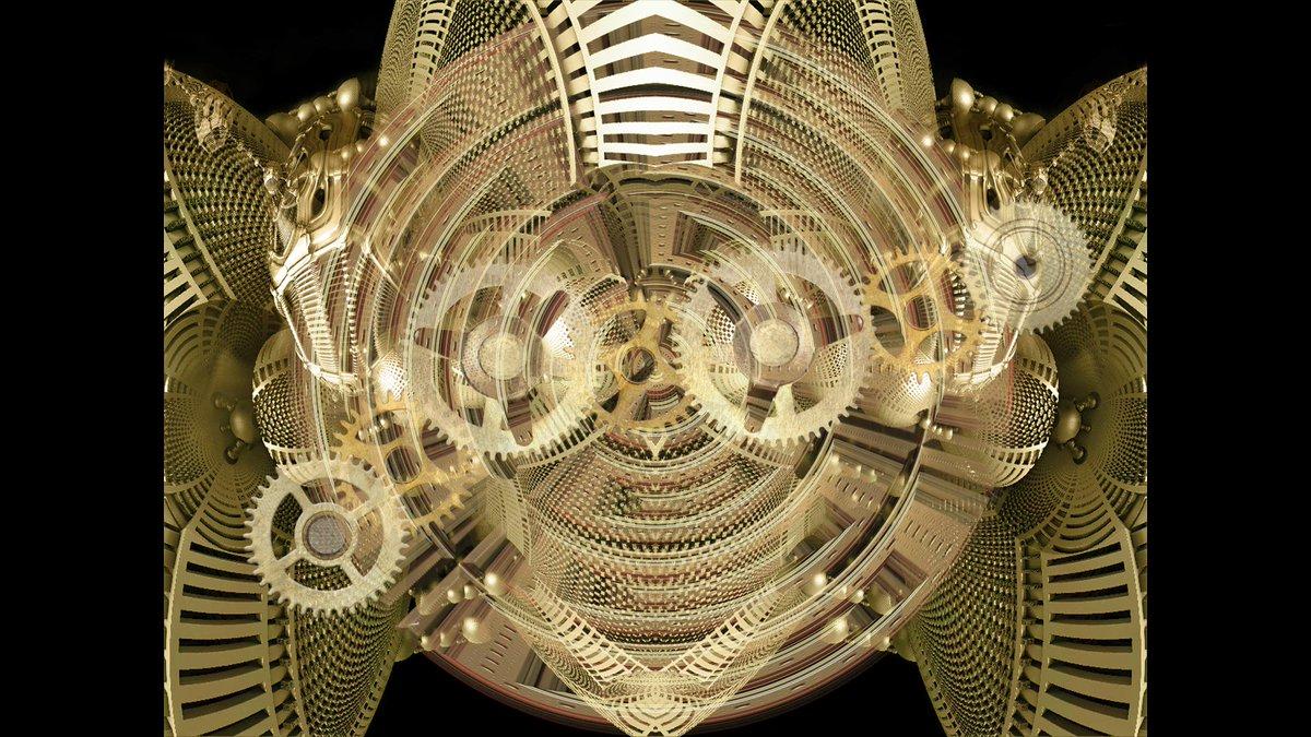 Steampunk automation?  1/1 Edition Digital Fractal Animation available at:  CLOCKWORK WARPING  @signArtApp  https://t.co/13bsuoGRkm  #steampunk #fractals #digitalart #fractalart #animation #NFT #SignArt #waves #SIGN #NFTCollectors #NFTCommunity #nftart