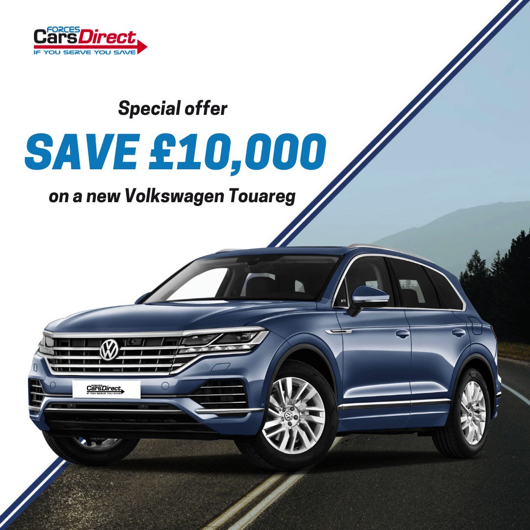 😀 SPECIAL OFFER 😀 save over £10,000 on a new Volkswagen Touareg 3.0 V6 TSI 4motion R-line 5dr TIP Auto 👍 find out more here tinyurl.com/k8ussmww #Volkswagen #Touareg #newcardiscount #militarydiscount
