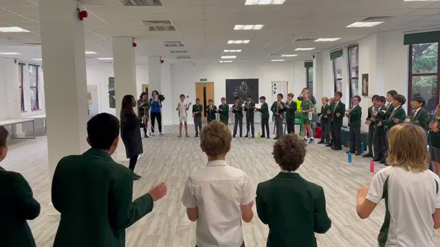 Great start this morning with @Shez79 from @BlackVoicesUK with our @SHSBoysPrep Year 6 boys. Learning a song in Swahili with movement @TraceyChongSHS @SHSPrepMusic @SHSMusicDpt #BlackHistoryMonth #BlackHistoryMonth2021