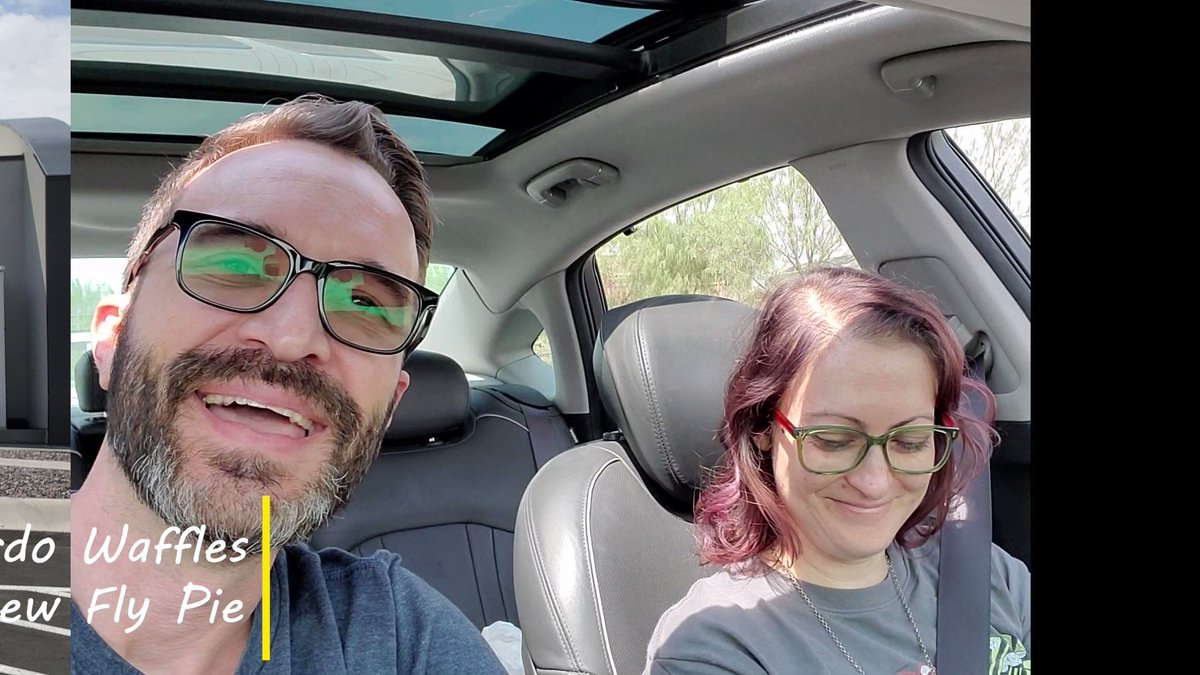 Check out Heather and Josh from @weirdowafflesvlog as they drive through our one-of-a-kind tunnel for a one-of-a-kind experience!  #flypiepizza #flythetunnel #weirdowaffles #foodies #pizza