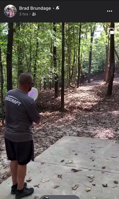 2 aces on the same hole. Well done by Brian Williamson and Brad Brandage at Little Mulberry DGC. #acerunpro #acerun #2for1 #wow #discgolf #ace #holeinone #incredible
