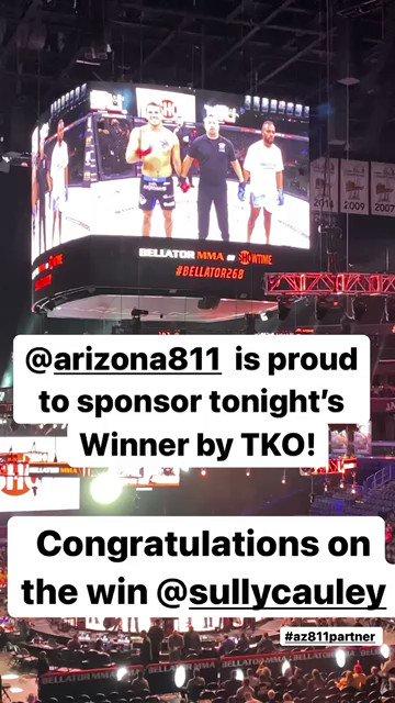 Proud sponsor of tonight's winner by TKO! Congratulations @sullytroy100