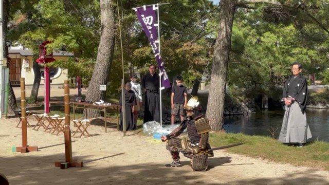 ちびっこ剣士もぐんぐん上達しています 真剣で稽古もしております #初實剣理方一流甲冑抜刀術 #基本の形 #岡山の歴史 #古武道 #侍 #日本刀 #nihonto  #katana  #Samurai
