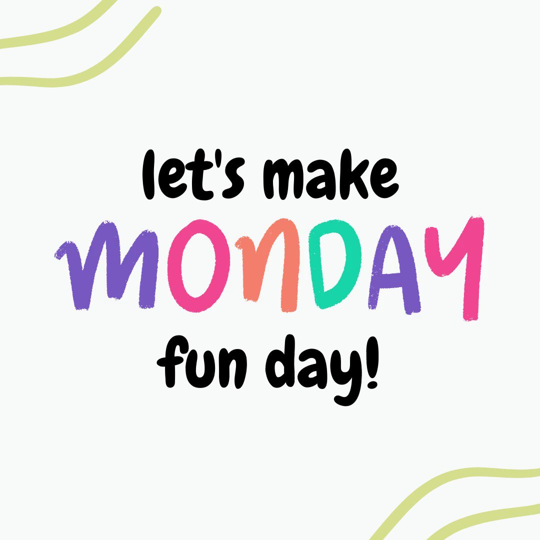 Happy Monday! Instead of the typial feeling you get on Monday, make today Fun Day! What are your goals for the week?  #mondayfunday #mondaymeme #mondaymotivation #goals #newweek