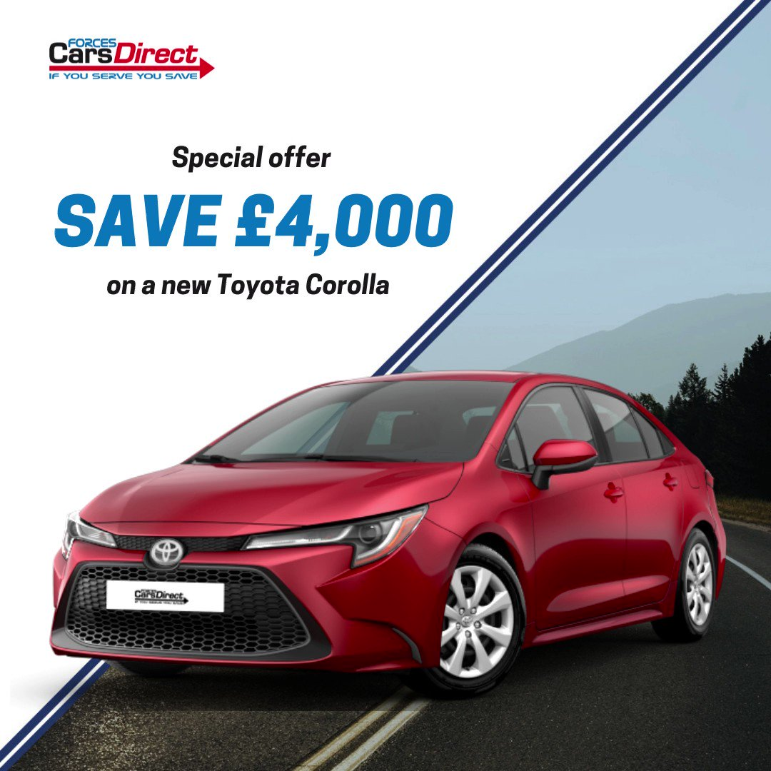 😍 SPECIAL OFFER 😍 save over £4,000 on a new Toyota Corolla Hatchback 1.8 VVT-I Hybrid Icon 5dr CVT 👍 find out more here tinyurl.com/ynby9naw #Toyota #Corolla #militarydiscount #newcardiscount