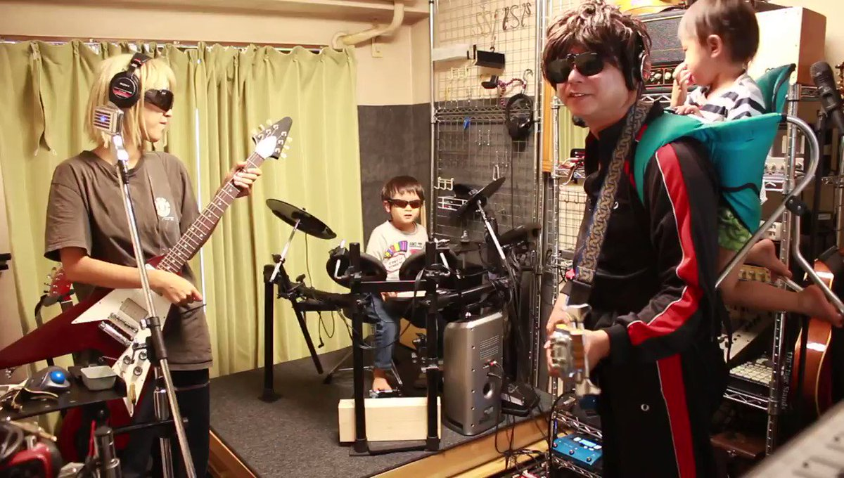 先日のバンド練習、210925_散弾銃のテレキャスター_ta3#バンド #band #ボーカル #vocal #ギター #guitar #ベース #bass #ドラム #drum #歌ってみた #弾いてみた #演奏してみた #叩いてみた #子供 #kids #成長記録 #こどものいる暮らし #家族 #family #家族バンド #familyband #オリジナル曲 #original