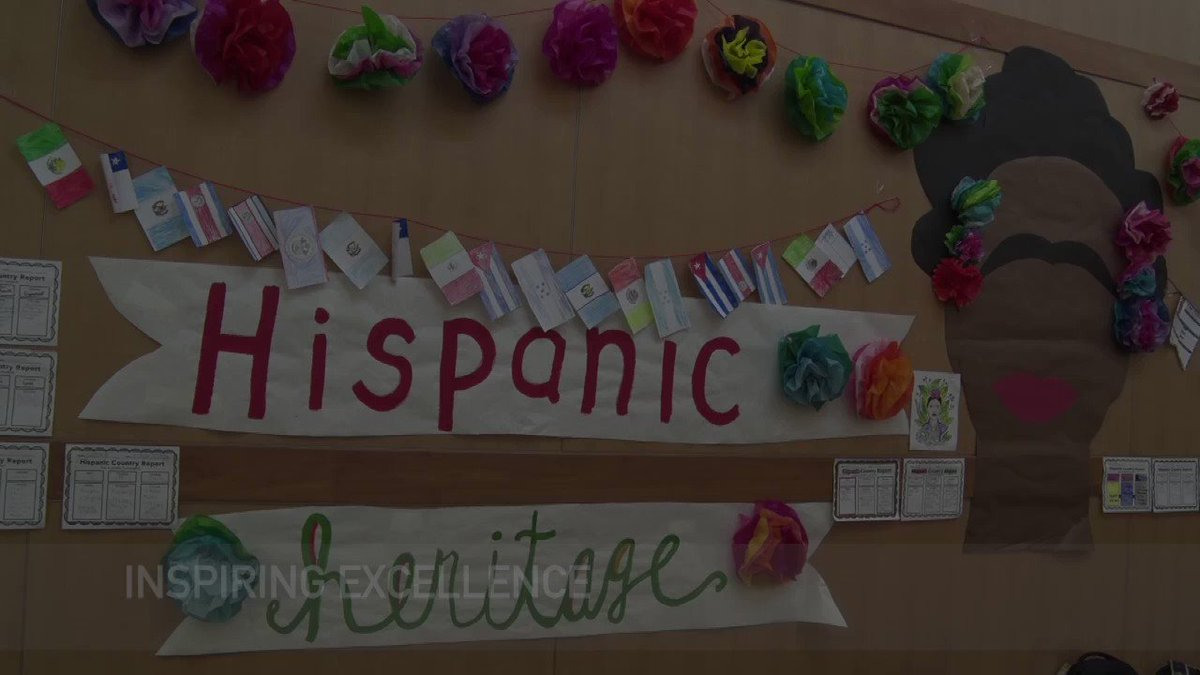 Caley Elementary celebrated Hispanic Heritage Month throughout the school and the Viking Channel stopped by to check out the amazing mural put together by our third grade Cougars! #umasdistheplacetobe