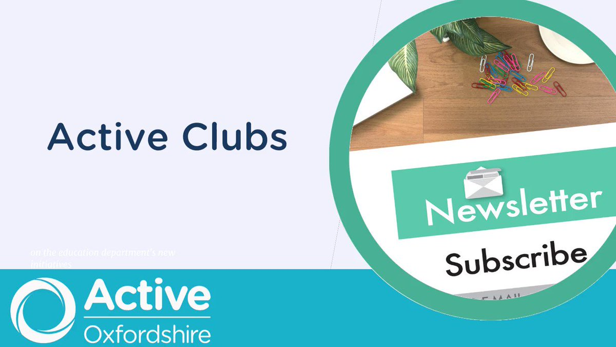 📣 Coaches and clubs in #Oxfordshire Have you seen the latest Active Clubs newsletter? Read it here (and why not subscribe so you don't miss an issue?) https://t.co/BfmG2n6KNy ]