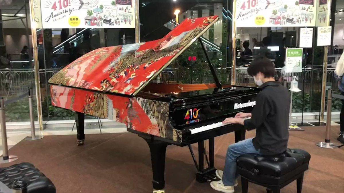 センチュリーシネマのお隣#松坂屋 さんが410th😳イベント開催中❣(ピアニストな)スタッフと #マツカドピアノ へ遊びにいきました🎹♪『#グリーンブック』のDr.シャーリーと同じスタインウェイピアノでとある映画の曲を演奏してみました❣#センチュリーシネマ