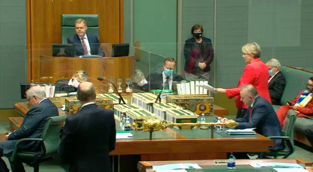 Here's the moment I was gagged in Parliament today for calling on Scott Morrison to stop protecting Christian Porter and establish a national anti-corruption commission. #auspol