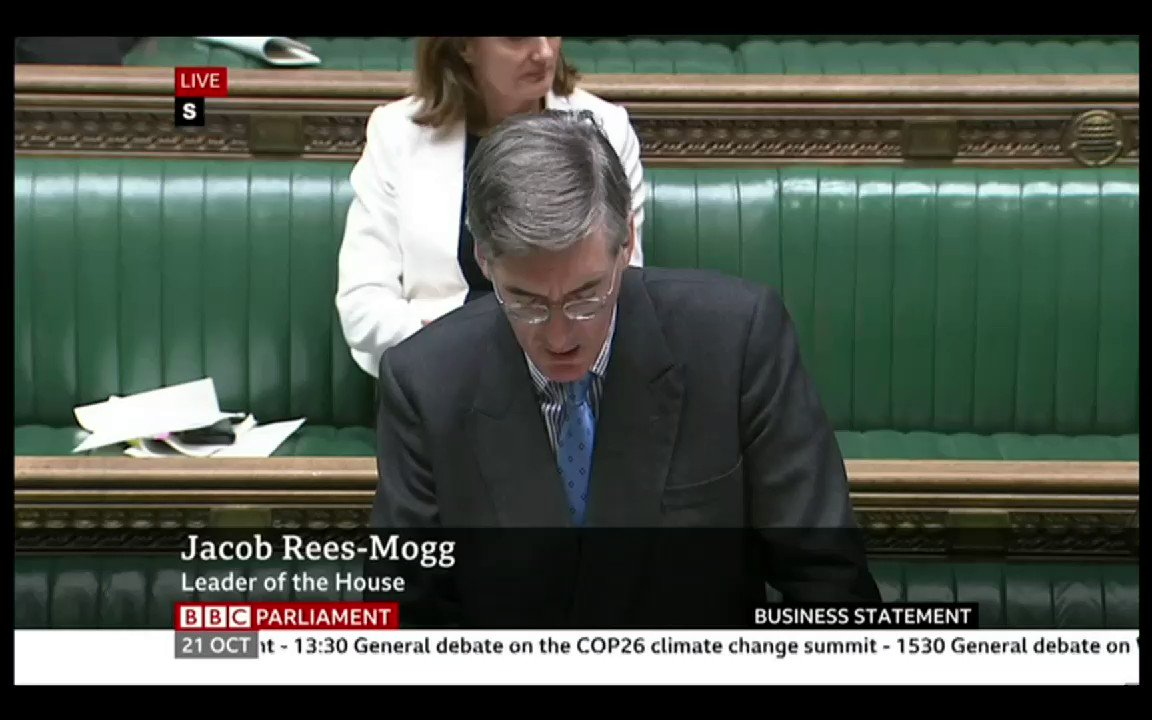 Jacob Rees-Mogg says Tory MPs don't need to wear a mask, in the Chamber, because they all know each other. 🤦