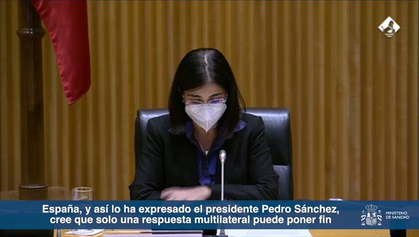 Twitter Ministerio de Sanidad. 📺 @CarolinaDarias ➡️ Solo una respuest...: abre ventana nueva