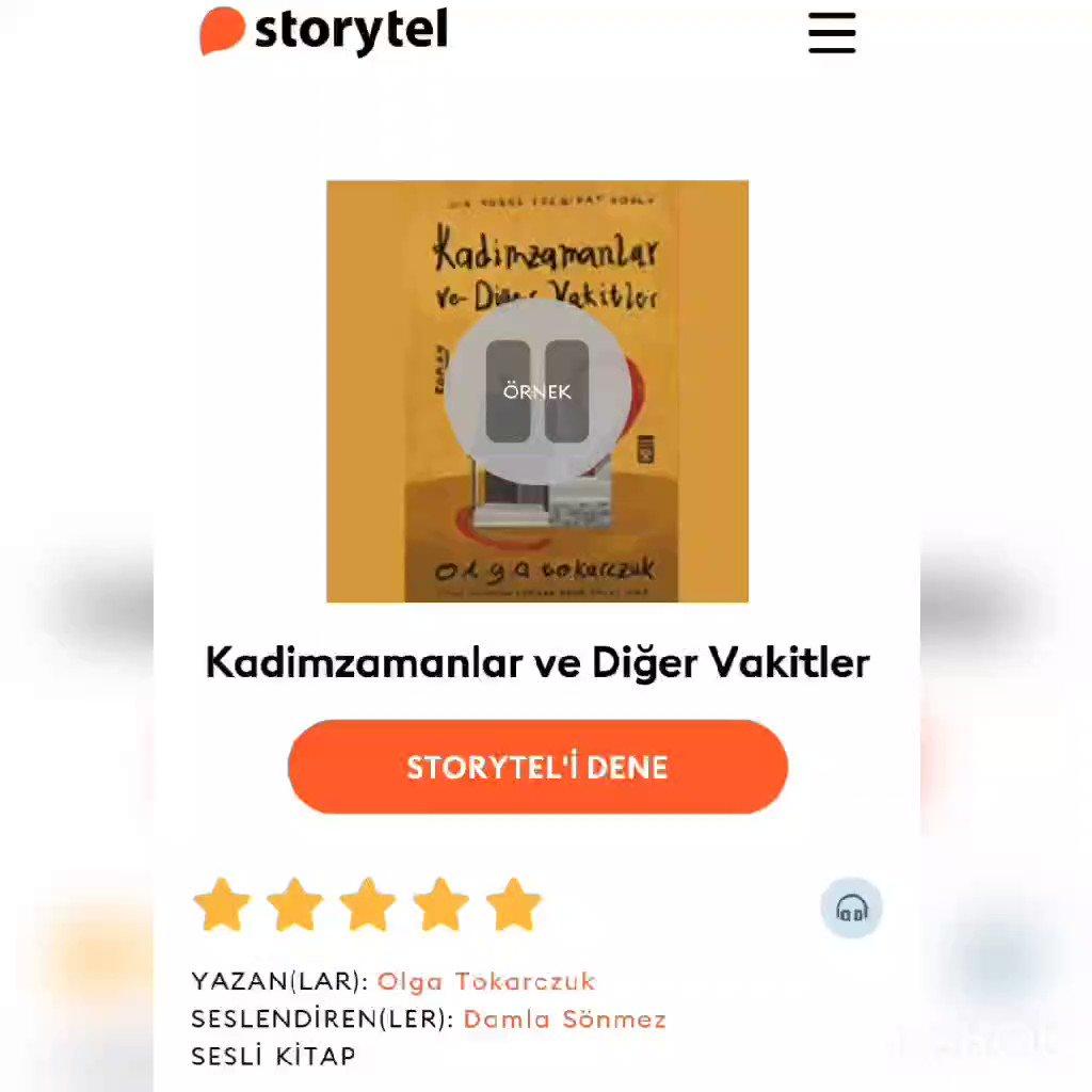 #DamlaSönmez 'in sesinden, Kadimzamanlar ve Diğer Vakitler, şimdi @storytel_tr de✨🎧 @DamlaSonmez  storytel.com/tr/tr/books/ka…