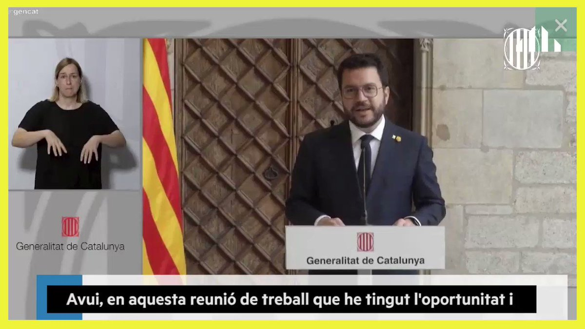 Image for the Tweet beginning: 🎥 [VÍDEO] #president @perearagones després