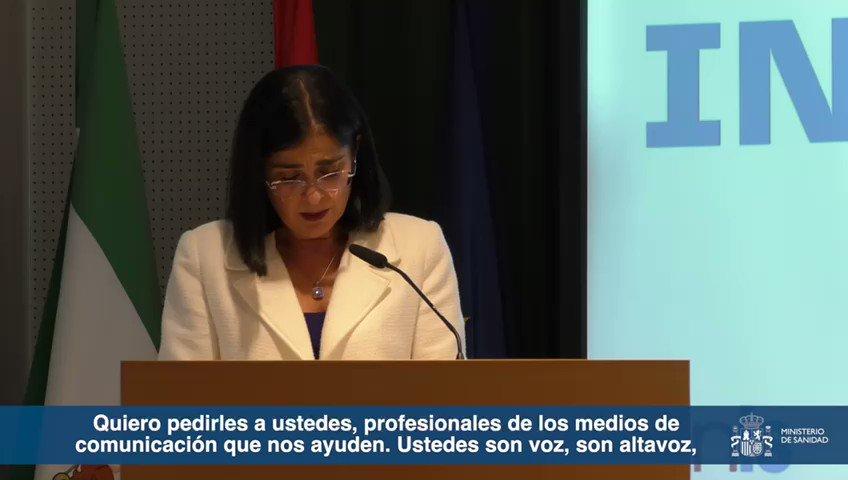 Twitter Ministerio de Sanidad. 📺 La ministra de @sanidadgob, @Carolin...: abre ventana nueva