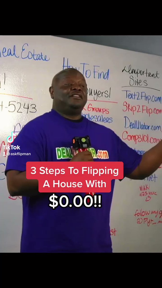 Share this with someone who's ready to start with $0.00! 💰💪🏾  #askflipman #realestate #mystory #selfimprovement #todayilearned