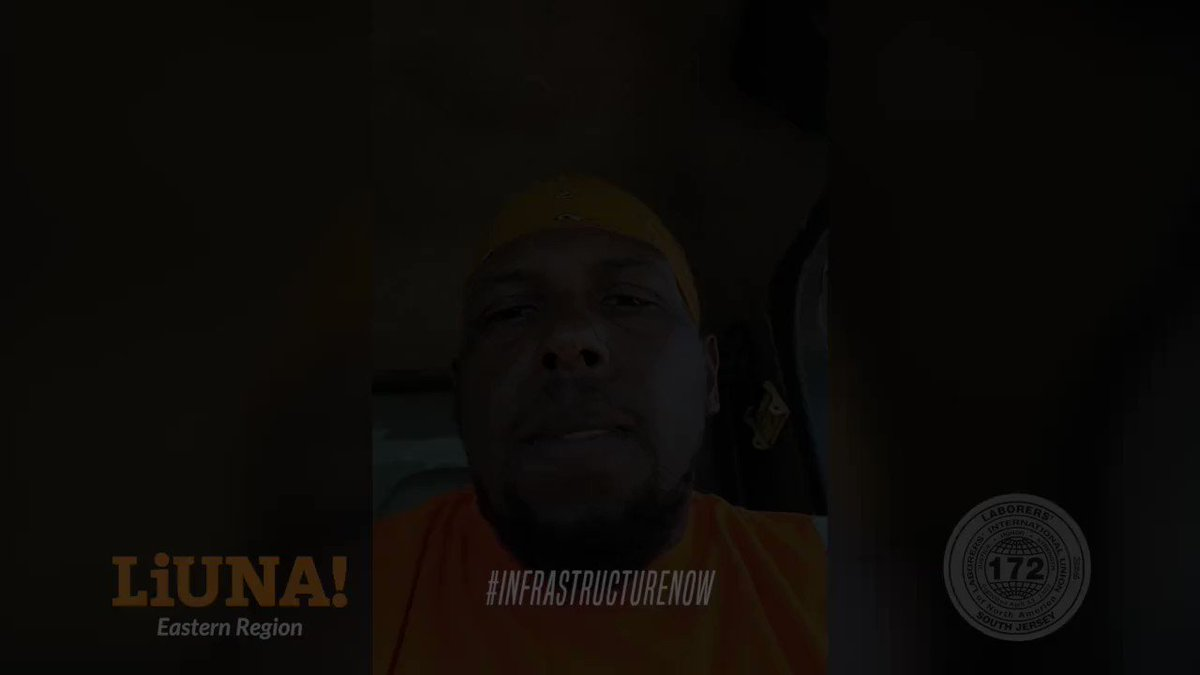 """.@LIUNA Local 172 member Darrick Smith has a simple message for House members:  """"Pass the #InfrastructureBill N👏O👏W👏!""""  We're proud of his advocacy & want to see yours! DM us YOUR video.  Tell your House member to VOTE YES and pass #InfrastructureNow!  https://liuna.org/bif"""