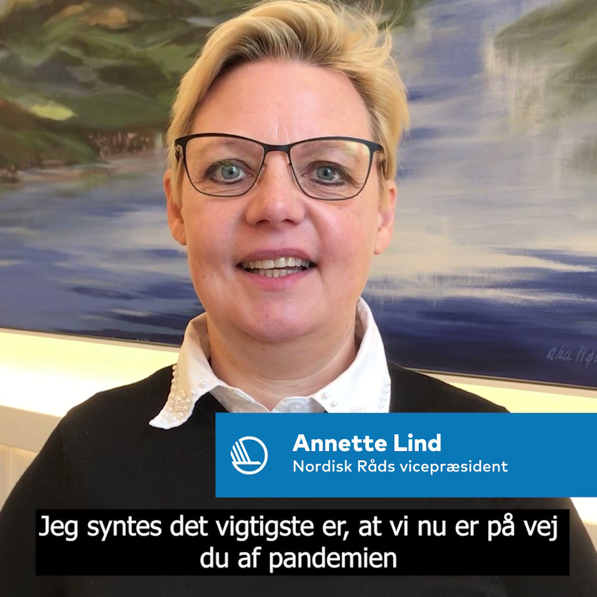 Vad är den viktigaste frågan på Nordiska rådets #nrsession 1-4 nov? Frågan går till vicepresident @annette_lind som bla nämner toppmötet med statsministrarna, där debatten handlar om pandemin och nordiska samarbetet @SocNR#nrpol Se videon och läs mer 👉 https://t.co/deUO6VdMmC https://t.co/sZPDAt2WtA