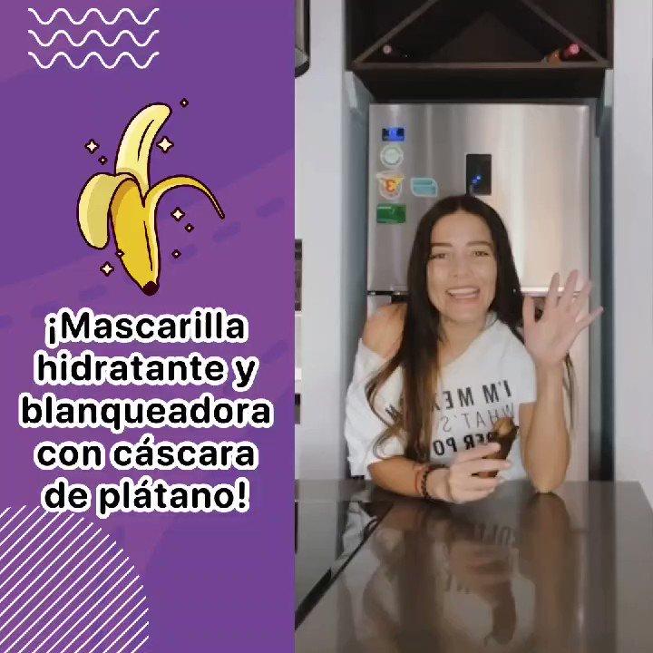 Mascarilla de plátano blanqueadora e hidratante. ¡La amarás!  ✨🍌😍  #mascarilla #banana #mascarillaplatano #beauty #belleza #PonteGuapa #tipsbelleza #AdrianaTips #reels #felizsabado
