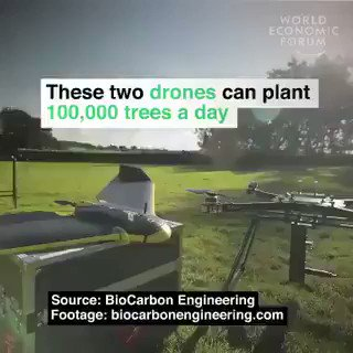 Image for the Tweet beginning: These two #Drones can plant