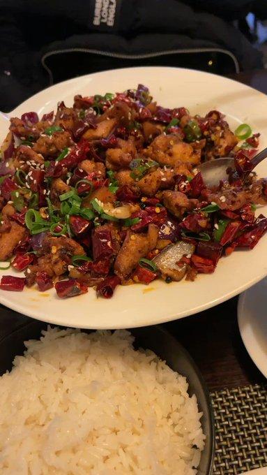 Eating hot stuff to be hot stuff 🌶 https://t.co/iOrjom2hk7