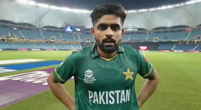 #Pakistan skipper @babarazam258's message for the fans 🇵🇰  #INDvPAK #T20WorldCup https://t.co/647yWq3Ic2