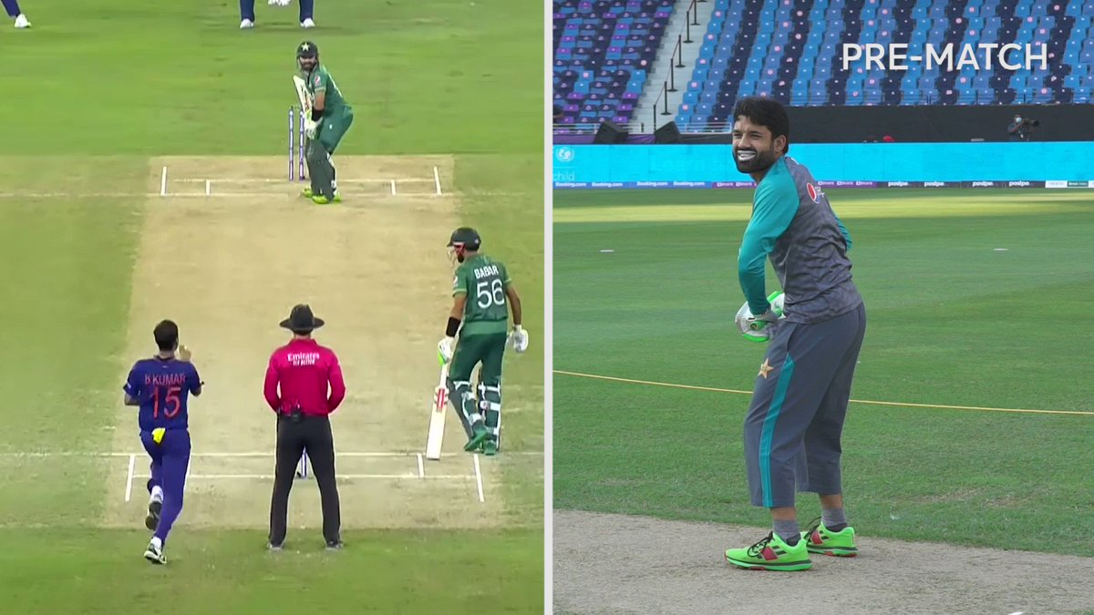 Dream. Visualise. Execute.  Mohammad Rizwan's masterpiece started before a ball was bowled 🎨  #T20WorldCup #INDvPAK https://t.co/o4m8biFhdP