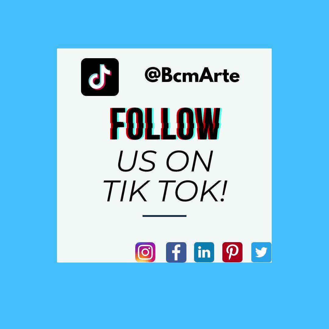 Discover BcmA's past and upcoming content on our new TikTok platform @BcmArte.   We are posting new videos every week ➡️ take a look at them.   Also, don't miss our other social media channels #pinterest #facebook #linkedin #instagram.   #tiktok #fyp #artgallery