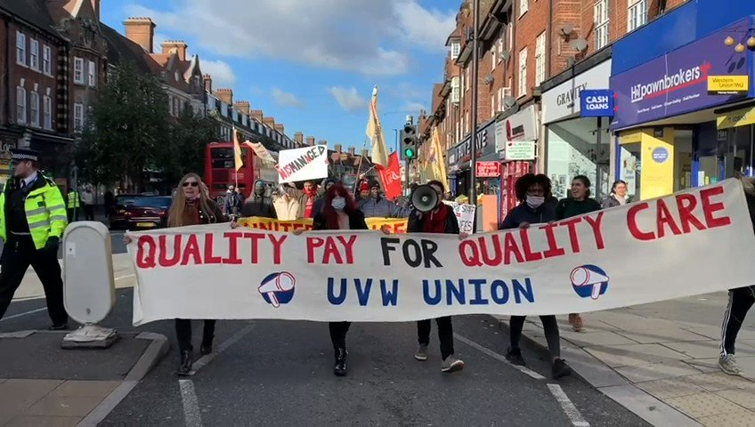 The govt is set to announce £9.50 as new minimum wage: not nearly enough. Workers at Sage Nursing Home & millions around the country want an end to poverty pay. Our members are taking to the picket line. Watch them in action+support them here!👇uvwunion.org.uk/en/campaigns/s… #LivingWage
