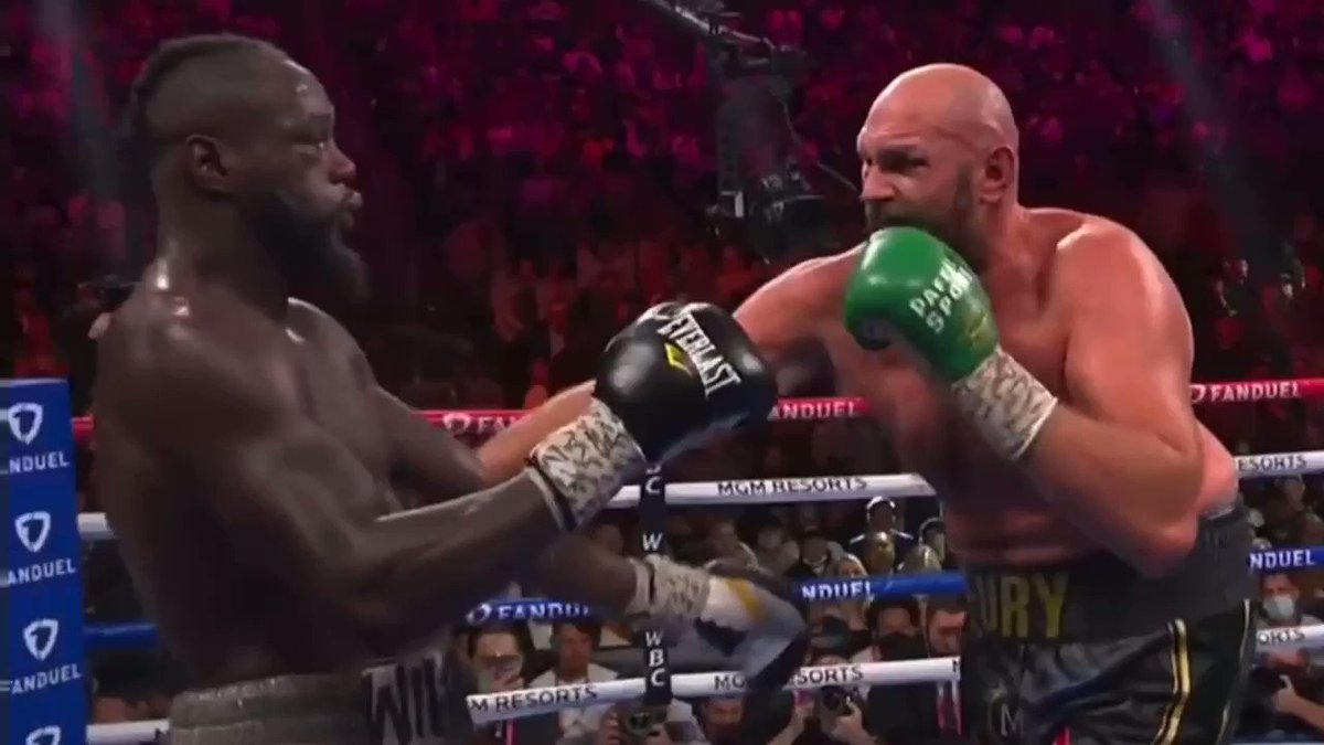 Watching back Wilder took shots that should of slept him before the KO. Underrated chin. #FuryWilder3