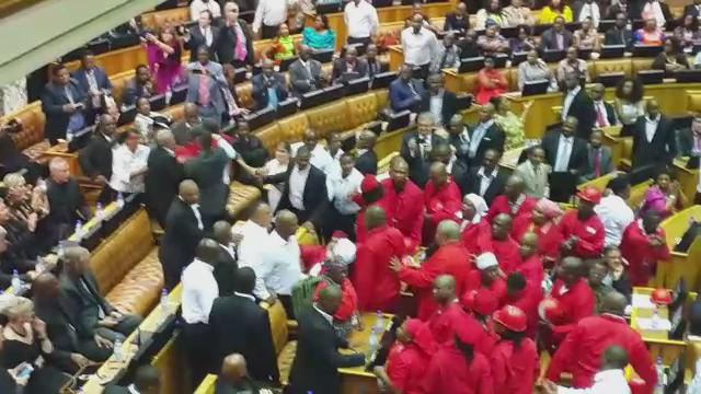 """Wow! You can hear that hard hat hitting the """"policeman""""! So loud! #SONA2015 http://t.co/4iqho1HHdN"""