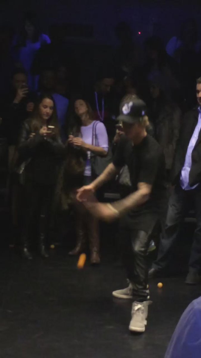 .@justinbieber at Fader Magazine's #AllStarWeekend party, kicking ass at ping pong. #Beliebers http://t.co/Q7UBnFZovb