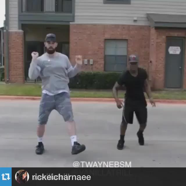 Marc Gasol and Mike Conley seen in the parking lot celebrating their v...