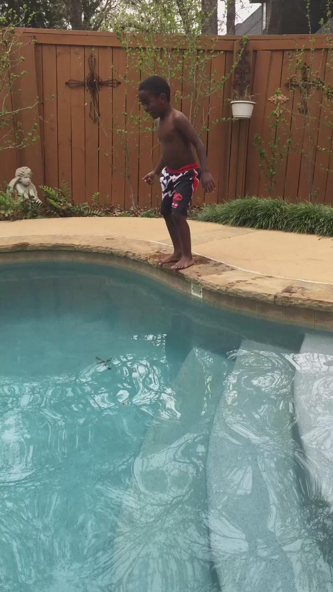 This Kid Pumping Himself Up To Jump Into A Pool Will Make Your Day