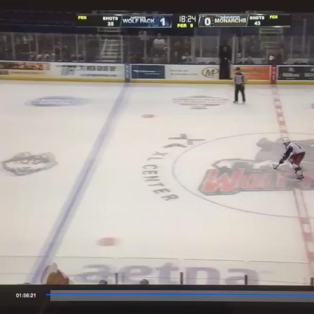Our Goalie couldn't hear the whistle because of crowd noise. The funniest thing I've seen in person at a hockey game. http://t.co/8Cwzzssso5