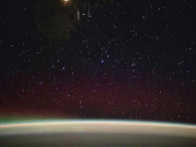 NASA astronaut records stunning view as he flies across the night sky