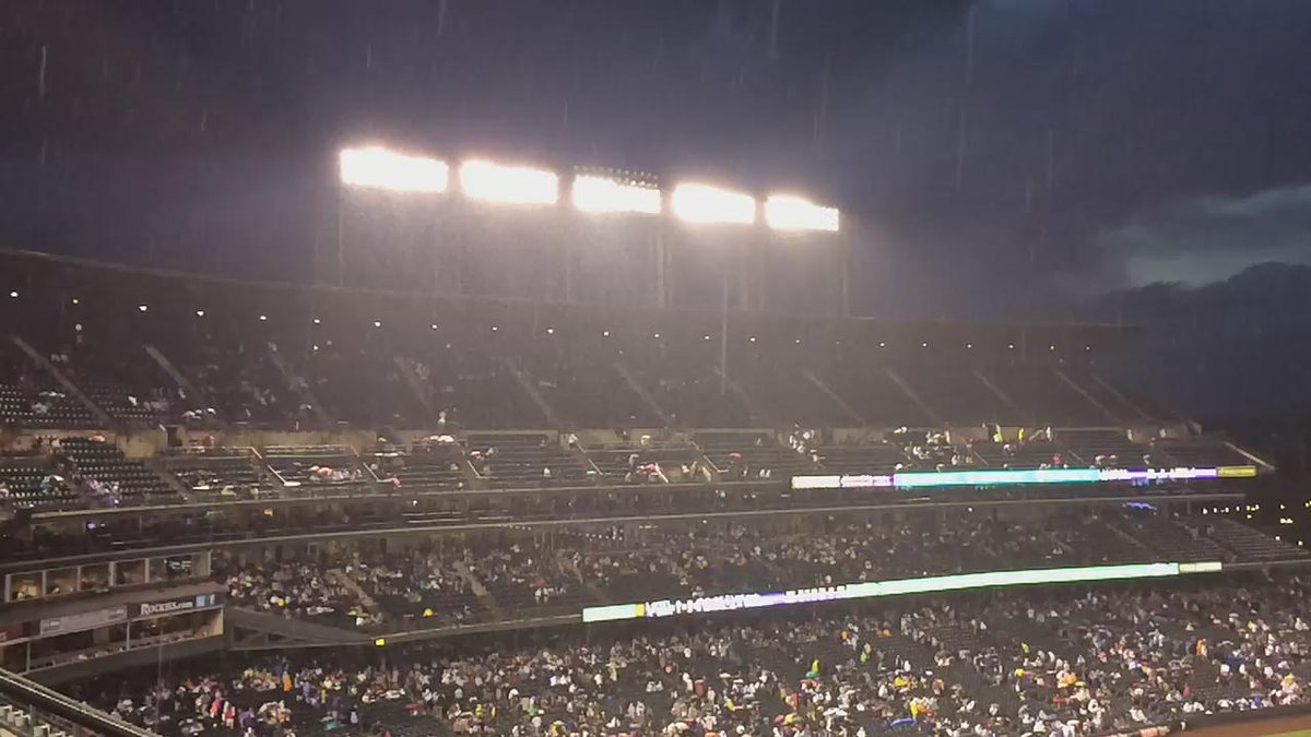 Thumbnail for Colorado Rockies Game Against the L.A. Dodgers Delayed Due to Lightning, Heavy Rain, Hail