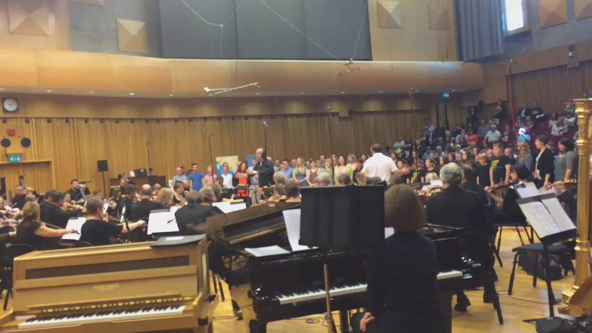 Last minute transatlantic rehearsals! Live at 4.20pm on @BBCRadioCymru, @BBCRadioWales & @BBCRadio3!  #BBCMusicDay http://t.co/nw3TxWBpqR