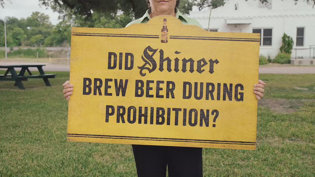"""Brewmaster Jimmy is back to answer the question, """"Did Shiner brew beer during Prohibition?"""" http://t.co/n3m2vs5sry"""