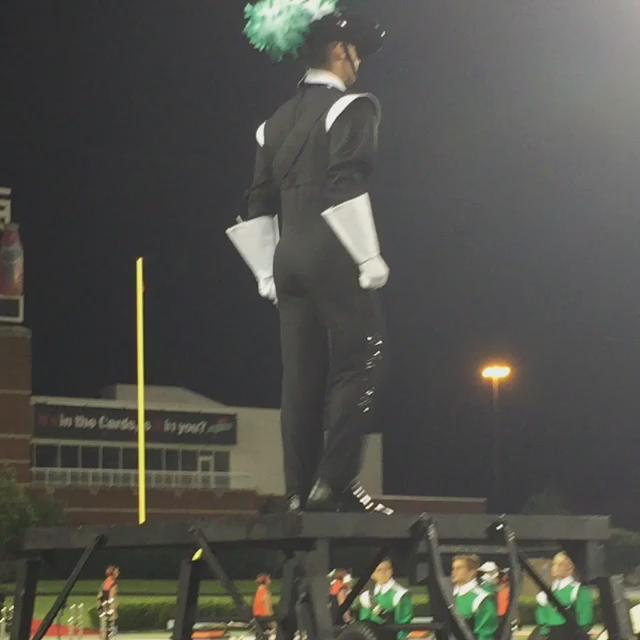 Austin Baker's Drum Major Salute tonight #cavs2015 #GAMEON http://t.co/p19UyqwRLK