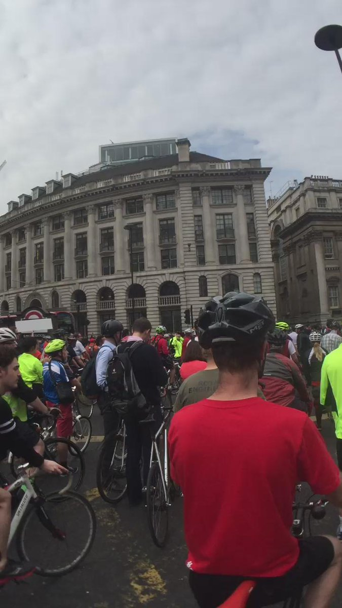 @london_cycling protest at bank @StopKillingCycl protest Monday 29 June 6pm - Bank. Come to both if you can. http://t.co/WYl9SSsB83