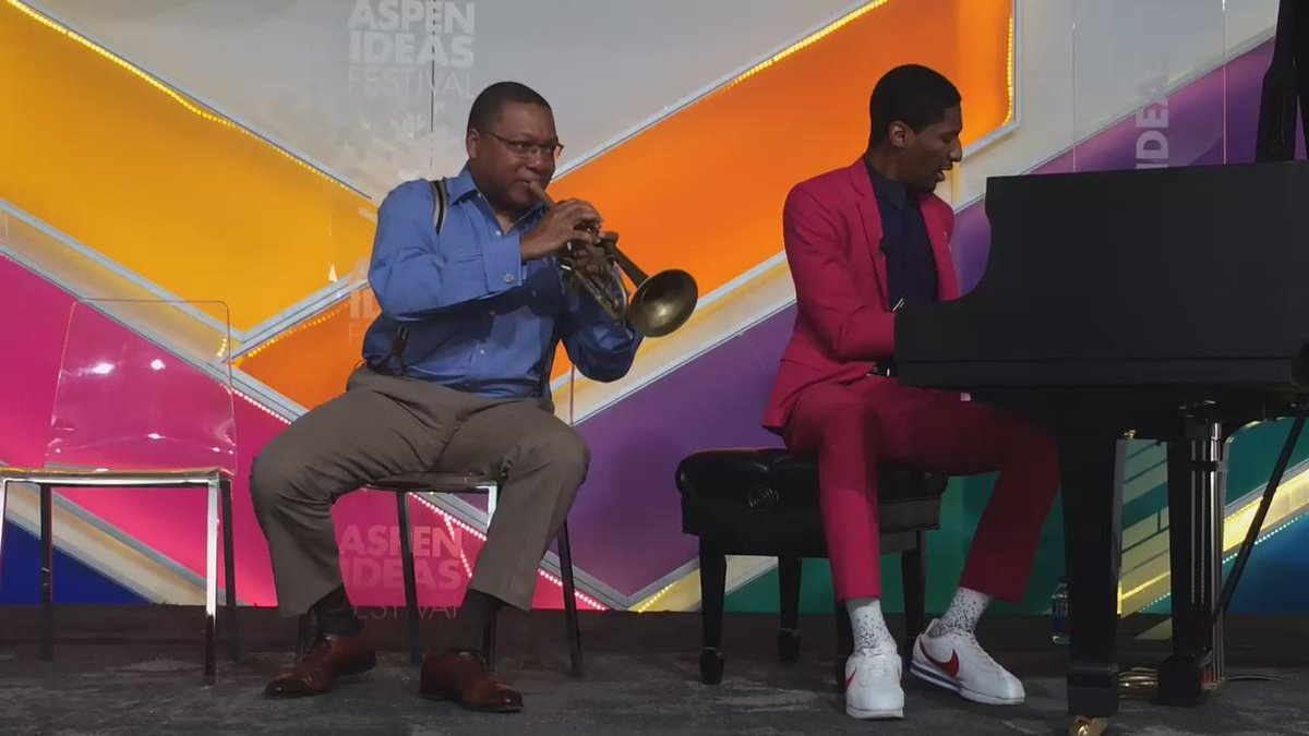 .@wyntonmarsalis and his trumpet explain syncopation. #aspenideas http://t.co/Pkcp9CwMmi
