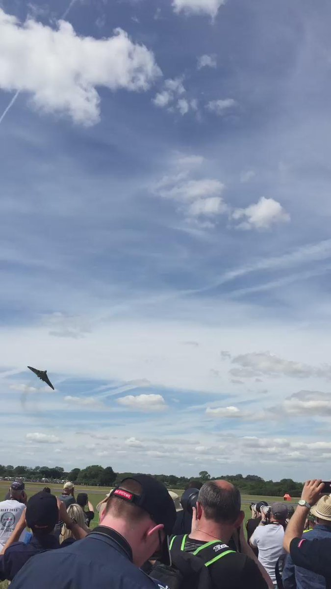 An amazing sight to see at a very sunny Air Tattoo @XH558 #RIAT15 http://t.co/W5rKgiEVuR