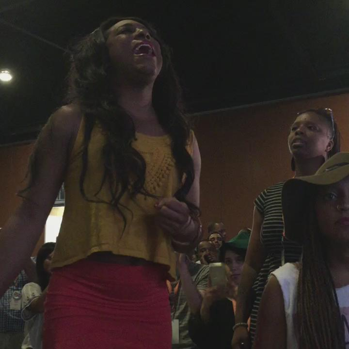 """#BlackLivesMatter uprising at this morning town hall with @MartinOMalley #NN15TownHall """"we want to live"""" http://t.co/rg0NYUmXwe via @pitaJ"""