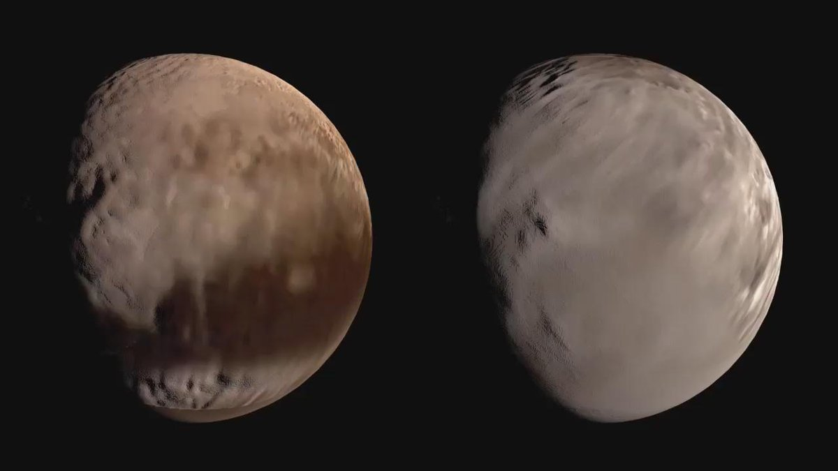 Here are my rough WIP #Pluto and #Charon globes (heightmaps estimated, not to scale). Gorgeous worlds! #PlutoFlyby http://t.co/8X1Hb4XUt5