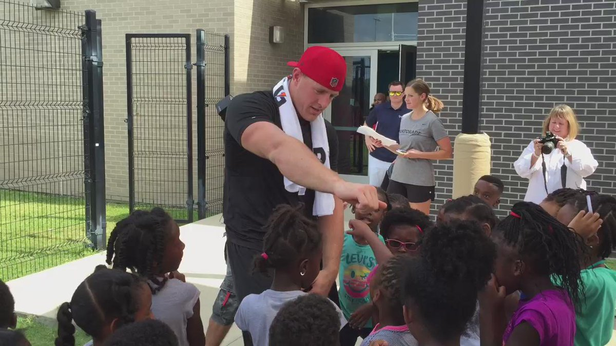 Cute kids teaching NFL star J.J. Watt how to 'Nae Nae' is simply the best