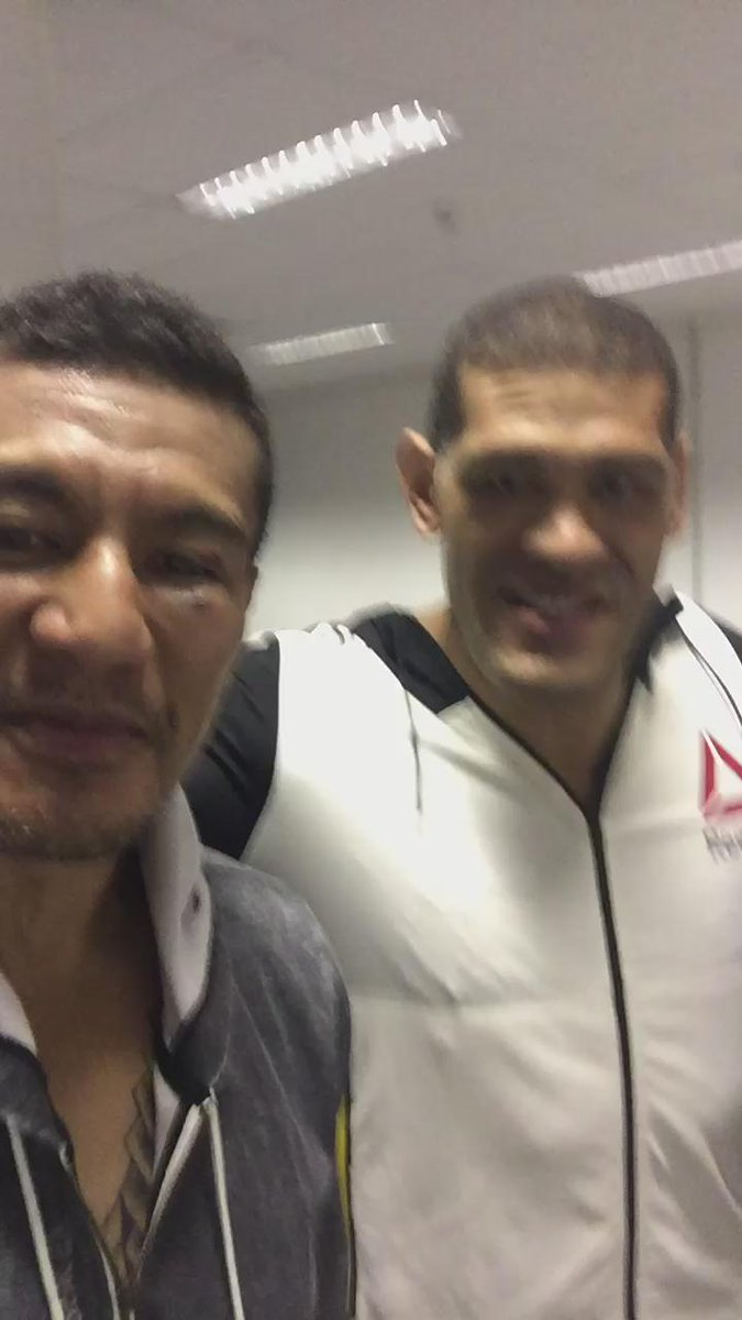 We're not enemies we are athletes #WorldClassAthletes this is why I love what I do #Respect @BigfootSilva @ufc http://t.co/T9AUTCMtmp