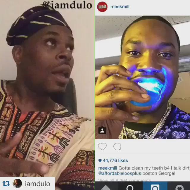 LOL @ the Yoruba name he gave Meek! LOL! RT @HandleHers:
