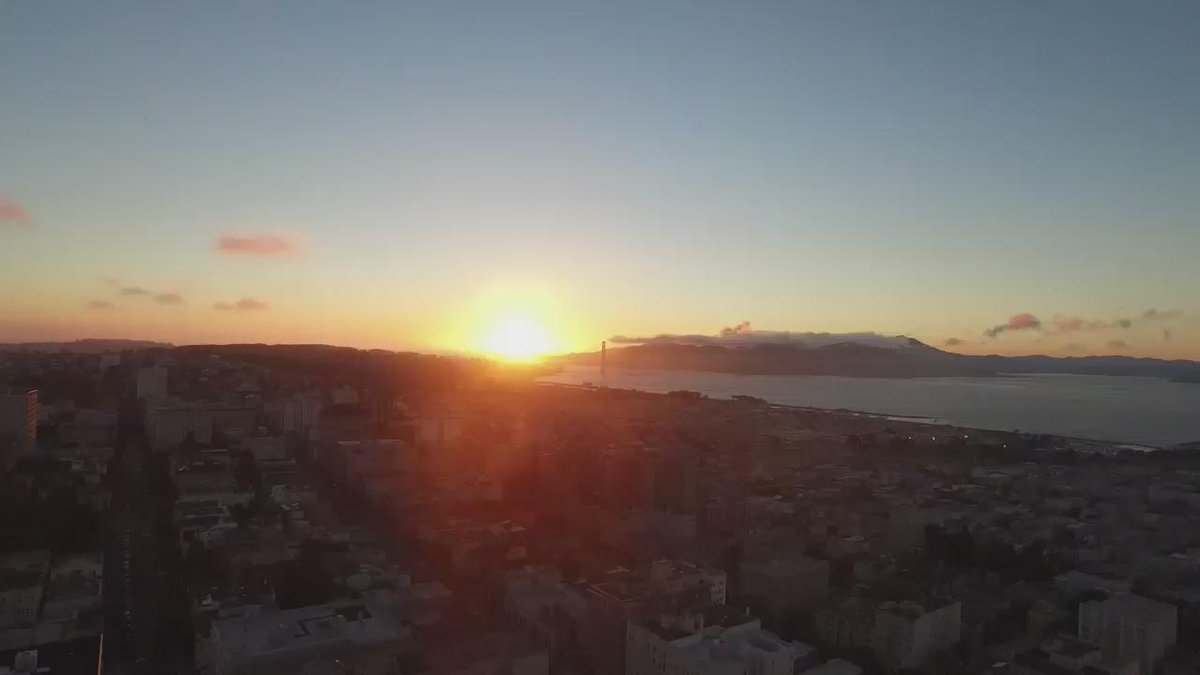 Yesterday evenings stunning San Francisco sunset via #drone!