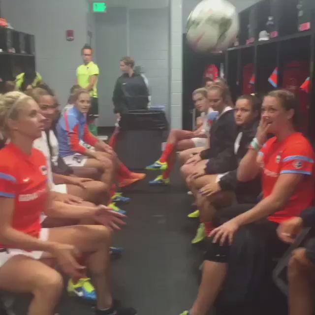 Rain delay in the @HoustonDash locker room = ⚽️